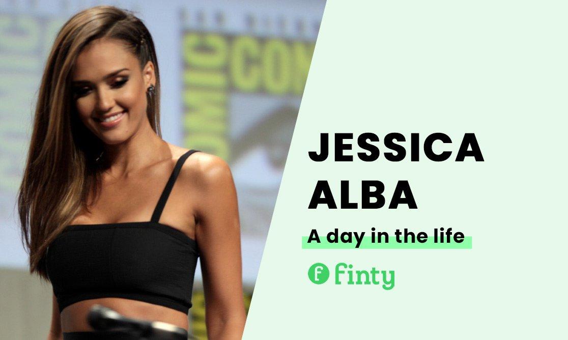 Jessica Alba's daily routine