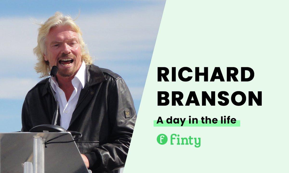 Richard Branson's daily routine